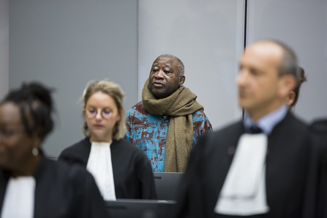 Laurent Gbagbo in ICC Courtroom